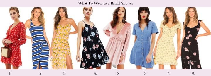 what to wear to a bridal shower