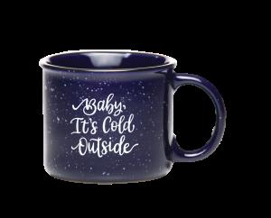 hand lettered mug
