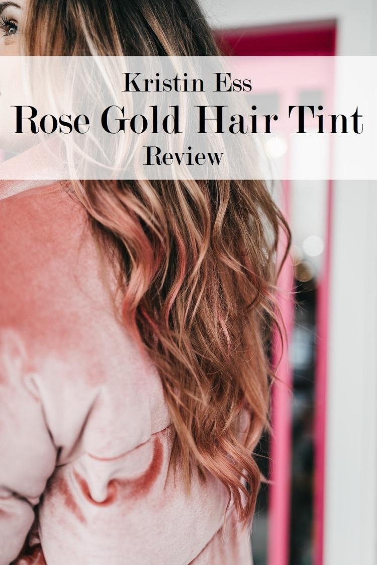 Kristin Ess Rose Gold Hair Tint Review